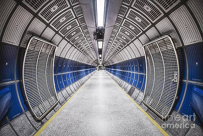 London Tube Photograph - Journey To The Center Of Your Mind by Evelina Kremsdorf