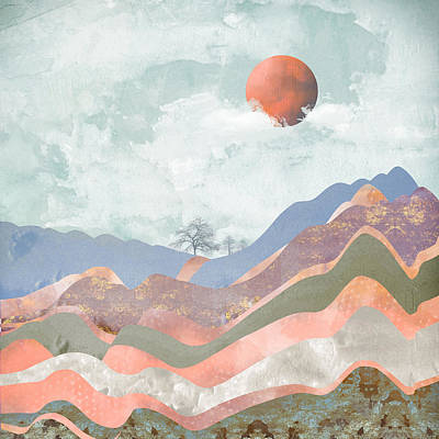 Landscape Digital Art - Journey To The Clouds by Katherine Smit
