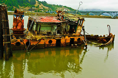 Bridge Pilings Photograph - Journeys End by Dale Stillman