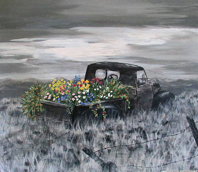 Wall Art - Painting - Journey's End by Mary Arneson