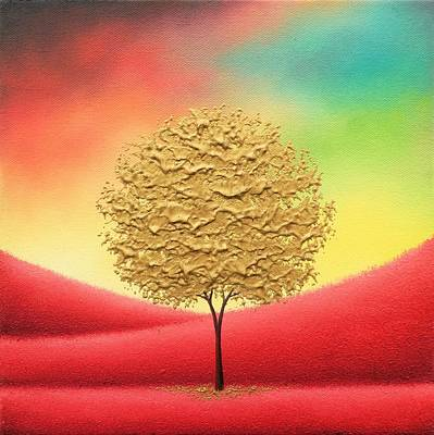 Rainbow Fantasy Art Painting - Journeys by Rachel Bingaman