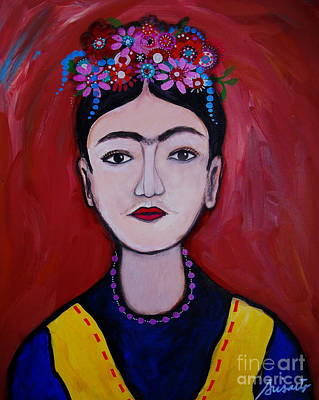 Painting - Joven Frida Kahlo by Pristine Cartera Turkus