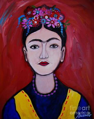 Pucker Up - Joven Frida Kahlo by Pristine Cartera Turkus