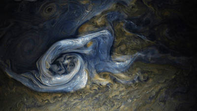 Photograph - Jovian Tempest by Nasa