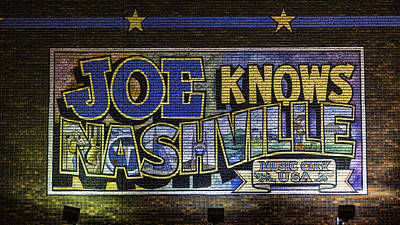 Nashville Sign Photograph - Joe Knows Nashville by Stephen Stookey