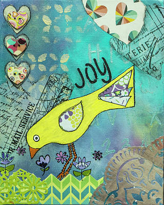 Canary Mixed Media - Joy 3 by Wendy Provins