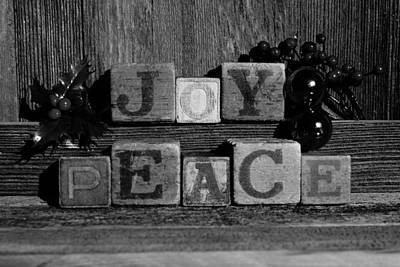 Photograph - Joy And Peace Black And White by Steven Clipperton