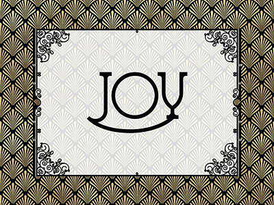 Joy - Art Deco Art Print