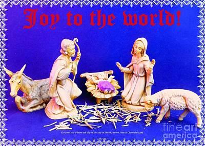 Photograph - Joy At The Nativity by Barbie Corbett-Newmin