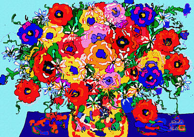Mixed Media - Joy Bouquet by Natalie Holland
