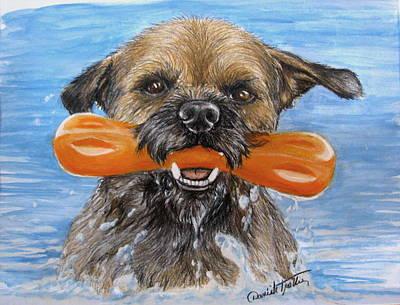 Puppy Mixed Media - Joy by Daniele Trottier