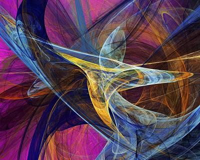 Fractal Flame Digital Art - Joy by David Lane