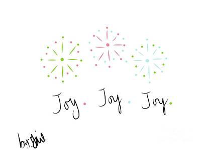 Fireworks Mixed Media - Joy  by Gail Nandlal