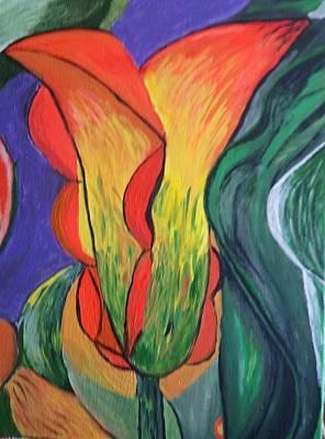 Joy In A Tulip Art Print by Diann Blevins