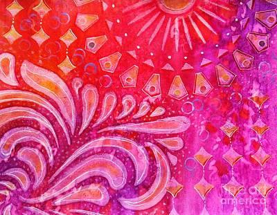 Pasta Al Dente - Joy in Orange and Purple by Desiree Paquette