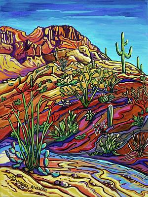 Contemporary Landscape Painting - Joy In The Desert by Alexandria Winslow