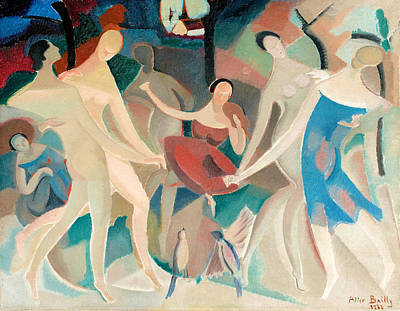 Dadaism Painting - Joy In The Woods by Alice Bailly