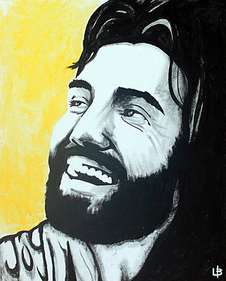 Joy - Jesus Smiling And Laughing Art Print by Lance Brown