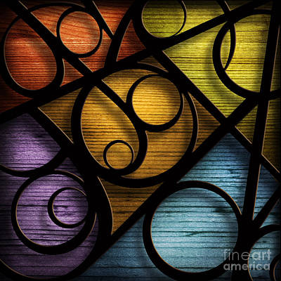 Mixed Media - Joy-joy-joy-abstract by Shevon Johnson