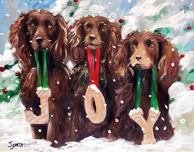 Boykin Spaniel Painting - JOY by Mary Sparrow
