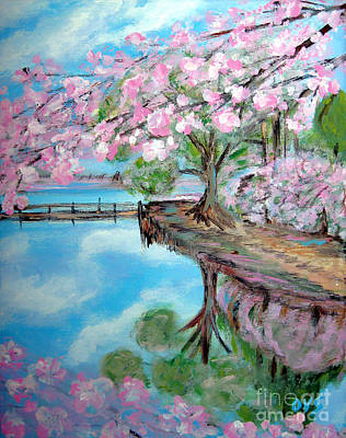 Painting - Joy Of Spring. Acrylic Painting For Sale by Oksana Semenchenko
