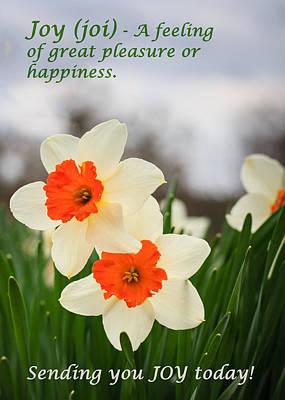 Photograph - Joy Of Spring Greeting Card by Joni Eskridge