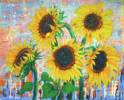 Painting - Joy Of Sunflowers Desiring by Lisa Crisman