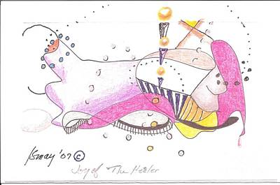 Drawing - Joy Of The Healer - Doodle by Rod Ismay