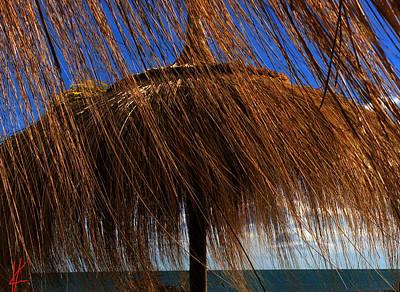 Bamboo Chair Photograph - Joy On Beach Spain  by Colette V Hera Guggenheim