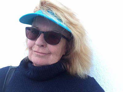 Selfportrait Photograph - Joy On Paros Island Greece  by Colette V Hera  Guggenheim