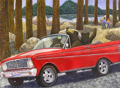 Hiker Painting - Joy Ride by Catherine G McElroy
