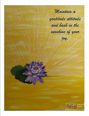 Painting - Joy - Spiritual Art Poster With A Message by Pat Heydlauff