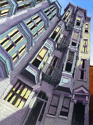Brownstone Painting - Joy Street by Mike Gruber