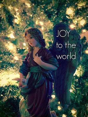 Photograph - Joy To The World Christmas Angel by Aurelio Zucco