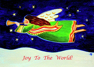 Painting - Joy To The World - Verse by Hazel Holland