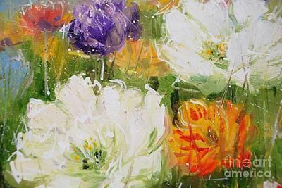 Joy With Tulips Art Print