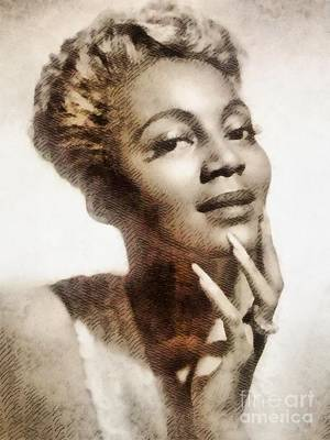 Bryant Painting - Joyce Bryant, Vintage Singer And Actress by John Springfield
