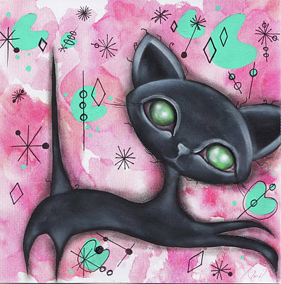 Painting - Joyce Cat by Abril Andrade Griffith