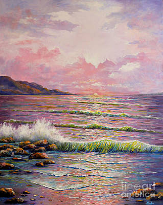 Painting - Joyces Seascape by Lou Ann Bagnall