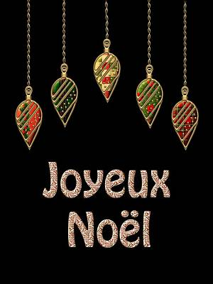 David Drawing - Joyeux Noel  French Merry Christmas by Movie Poster Prints
