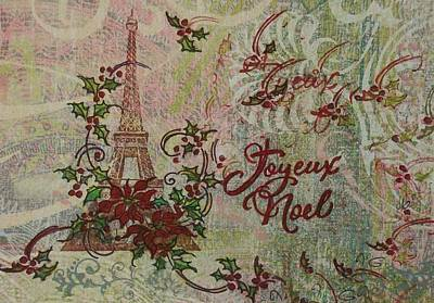 Hand Crafted Mixed Media - Joyeux Noel by Gail Kent