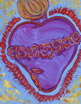 Immaculate Heart Painting - Joyful And Immaculate Heart Of Mary by Danielle Tayabas