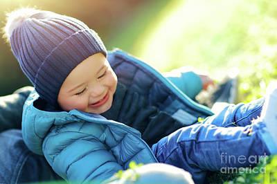 Photograph - Joyful Baby Time by Anna Om