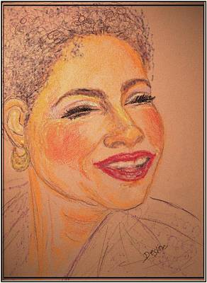 Drawing - Joyful by Desline Vitto