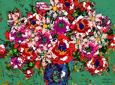 Flower Still Life Mixed Media - Joyful Floral by Natalie Holland