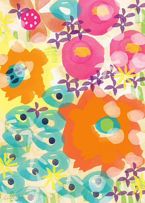 Joyful Painting - Joyful Garden by Linda Woods