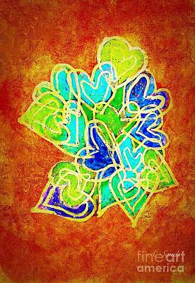 Painting - Joyful Hearts by Anne Sands