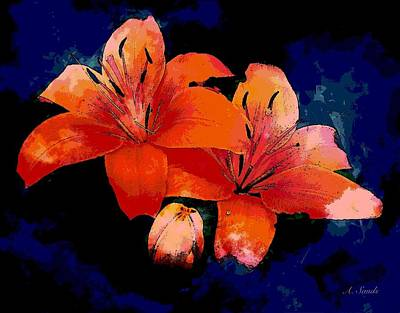 Photograph - Joyful Lilies by Anne Sands