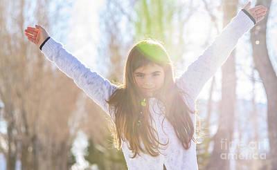 Photograph - Joyful Little Girl by Anna Om