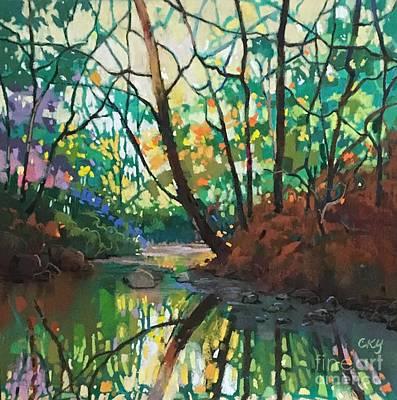Painting - Joyful Morning by Celine  K Yong